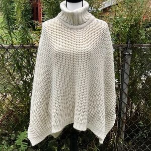 Steve Madden poncho wrap cape sweater